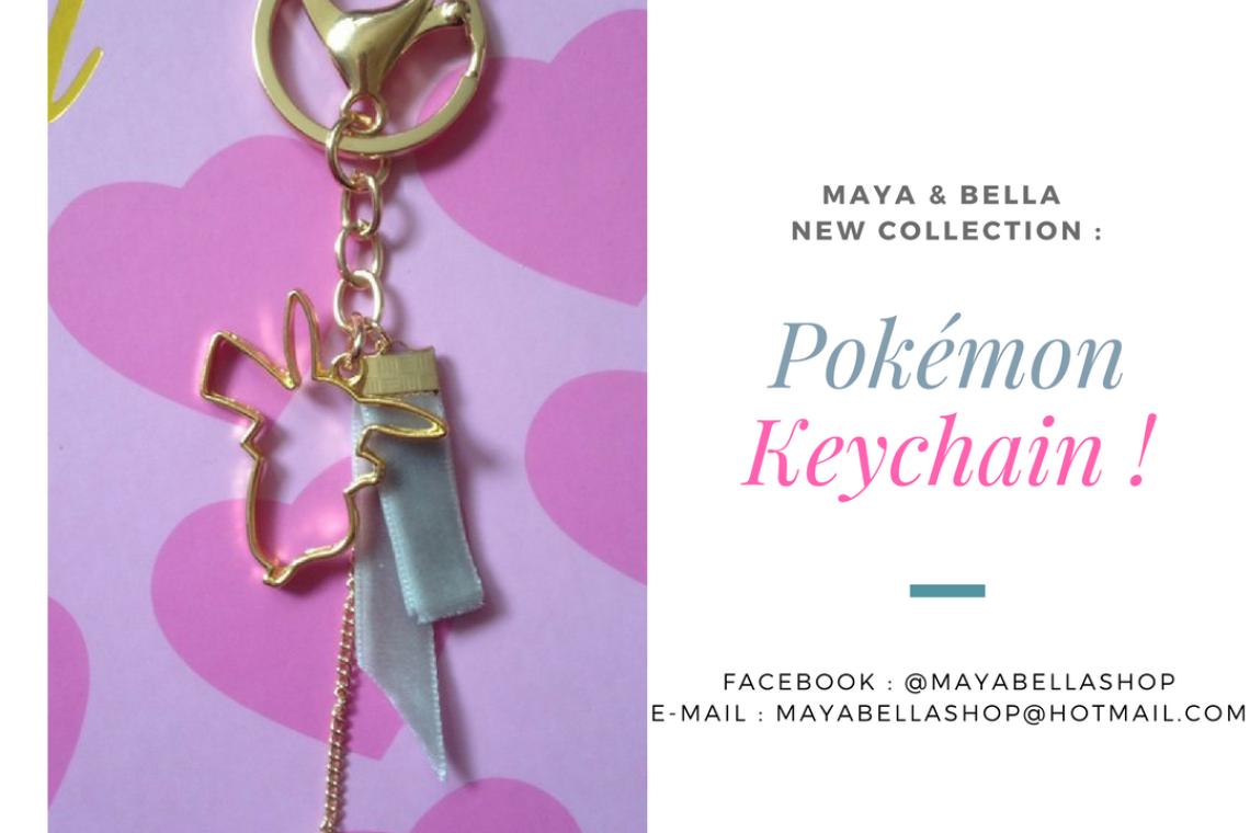 pouic_sama-et-maya-and-bella-shop-8.Porte clé Pokémon Pikachu, produit dérivé du tour de cou